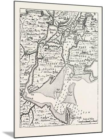 Map of New York About the Middle of the Eighteenth Century, from Popple's Atlas, USA, 1870S--Mounted Giclee Print
