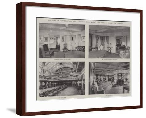 The Duke of Cornwall and York's Colonial Tour, Royal Apartments on Board the Ophir--Framed Art Print