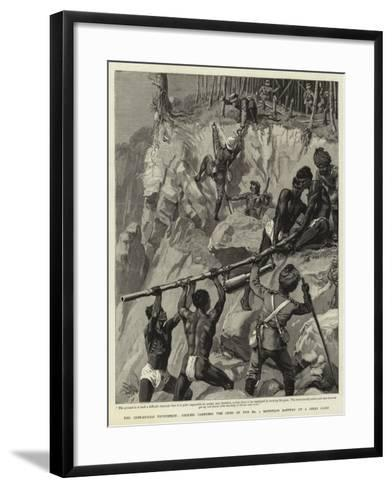 The Chin-Lushai Expedition, Coolies Carrying the Guns of the No 1 Mountain Battery Up a Steep Cliff--Framed Art Print