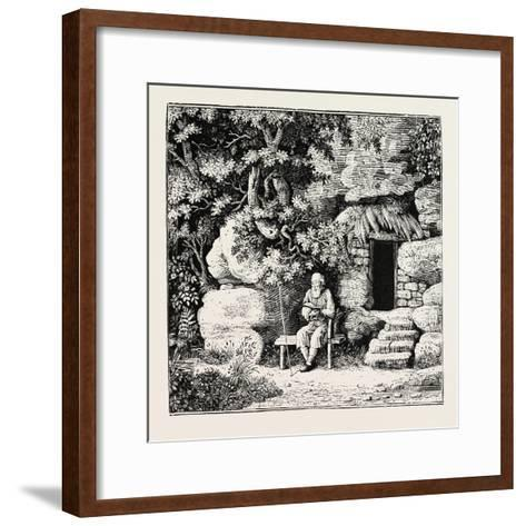 The Hermit at His Morning Devotions. from Goldsmith and Parnell's Poems--Framed Art Print