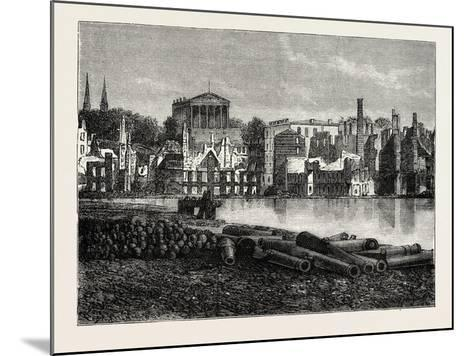 Ruins of Richmond after the War, American Civil War, USA, 1870S--Mounted Giclee Print