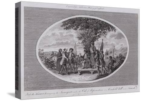 Ket the Tanner Haranguing the Insurgents under the Oak of Reformation at Moushold Hill Near Norwich--Stretched Canvas Print