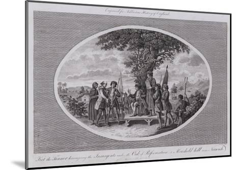 Ket the Tanner Haranguing the Insurgents under the Oak of Reformation at Moushold Hill Near Norwich--Mounted Giclee Print