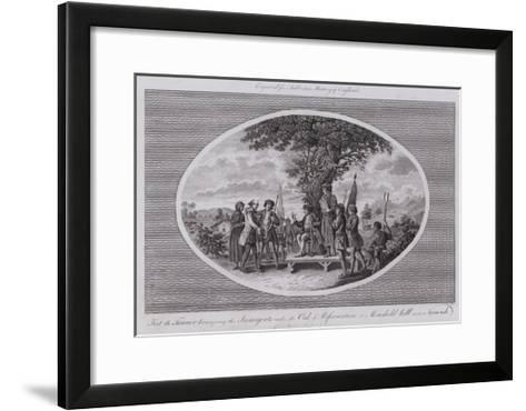 Ket the Tanner Haranguing the Insurgents under the Oak of Reformation at Moushold Hill Near Norwich--Framed Art Print