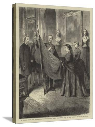 A Trophy from the Soudan, Lieutenant Wilford Lloyd Presenting One of the Mahdi's Flags to the Queen--Stretched Canvas Print