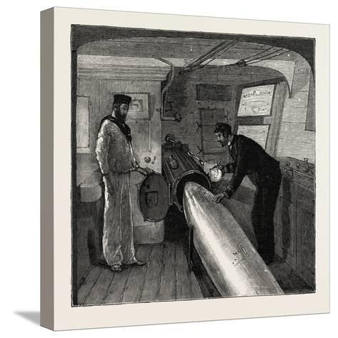 Torpedo Gun Boat, Commander's Cabin in the after Part of the Ship, 1888--Stretched Canvas Print