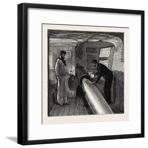 Torpedo Gun Boat, Commander's Cabin in the after Part of the Ship, 1888--Framed Art Print