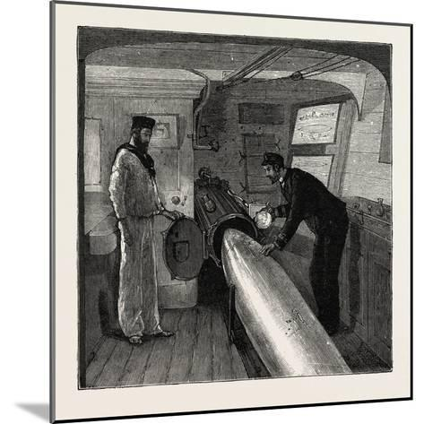 Torpedo Gun Boat, Commander's Cabin in the after Part of the Ship, 1888--Mounted Giclee Print