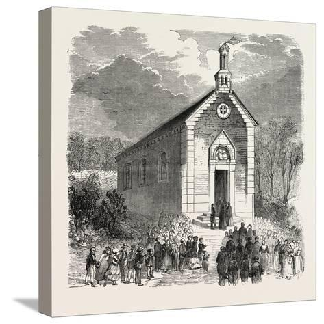 Inauguration of a Protestant Church in Conde-Sur-Noireau, France. 1855--Stretched Canvas Print
