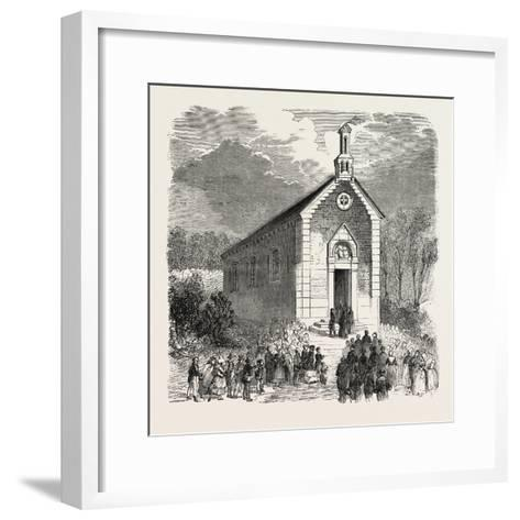 Inauguration of a Protestant Church in Conde-Sur-Noireau, France. 1855--Framed Art Print