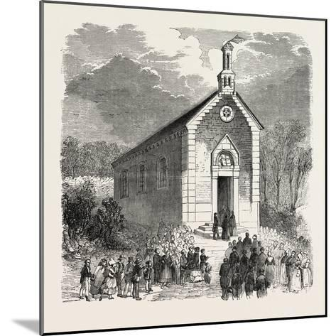 Inauguration of a Protestant Church in Conde-Sur-Noireau, France. 1855--Mounted Giclee Print