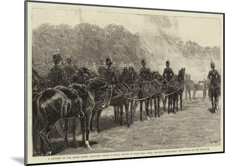 A Battery of the Royal Horse Artillery Firing a Royal Salute in Hyde Park When the Bells Proclaimed--Mounted Giclee Print