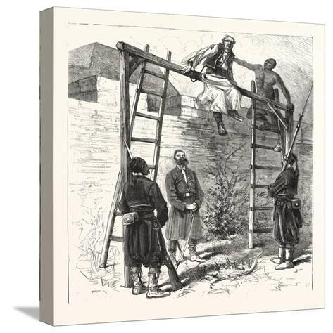 The War in the East: Execution of a Bulgarian Insurgent at Widin, 1876--Stretched Canvas Print