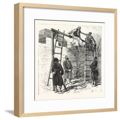 The War in the East: Execution of a Bulgarian Insurgent at Widin, 1876--Framed Art Print