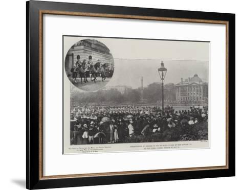 Presentation of Colours to the 3rd Scots Guards by King Edward VII at the Horse Guards' Parade on 2--Framed Art Print