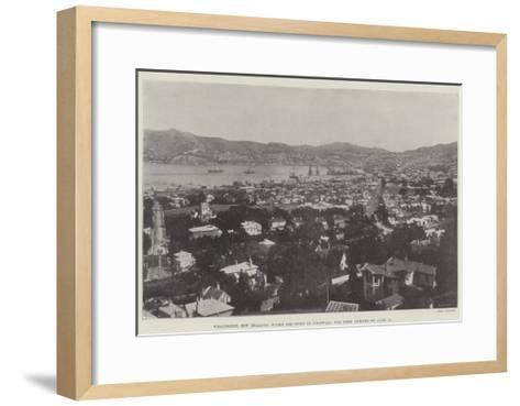 Wellington, New Zealand, Where the Duke of Cornwall and York Arrives on 18 June--Framed Art Print