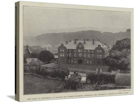 New Hall of Residence at Bangor for Women Students Attending the University College of North Wales--Stretched Canvas Print
