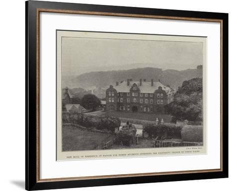 New Hall of Residence at Bangor for Women Students Attending the University College of North Wales--Framed Art Print