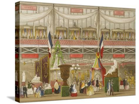 Interior of the Great Exhibition, French and Belgium Departments, by Chevanne, Pub. by Read and Co--Stretched Canvas Print