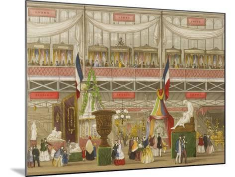 Interior of the Great Exhibition, French and Belgium Departments, by Chevanne, Pub. by Read and Co--Mounted Giclee Print