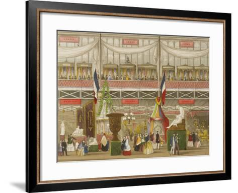 Interior of the Great Exhibition, French and Belgium Departments, by Chevanne, Pub. by Read and Co--Framed Art Print