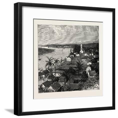 View of the City of Tuxpan from Observatory Hill, Looking West, Mexico, 1888--Framed Art Print