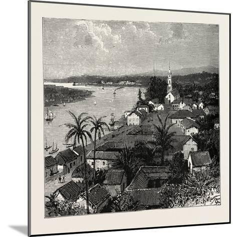 View of the City of Tuxpan from Observatory Hill, Looking West, Mexico, 1888--Mounted Giclee Print