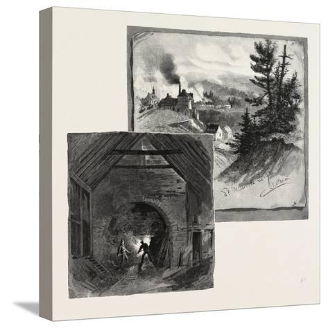 French Canadian Life, St. Maurice Forges, Canada, Nineteenth Century--Stretched Canvas Print