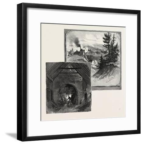 French Canadian Life, St. Maurice Forges, Canada, Nineteenth Century--Framed Art Print
