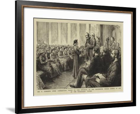Sir P Cunliffe Owen Distributing Prizes to the Students of the Bloomsbury Female School of Art at t--Framed Art Print