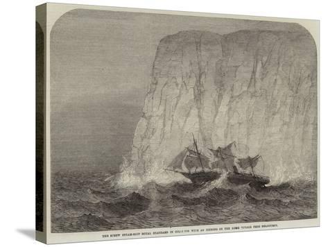 The Screw Steam-Ship Royal Standard in Collision with an Iceberg on the Home Voyage from Melbourne--Stretched Canvas Print