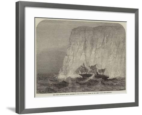 The Screw Steam-Ship Royal Standard in Collision with an Iceberg on the Home Voyage from Melbourne--Framed Art Print