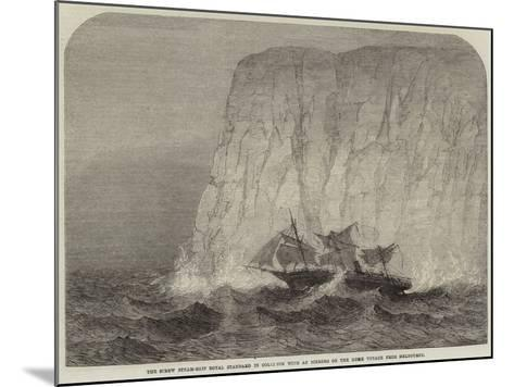 The Screw Steam-Ship Royal Standard in Collision with an Iceberg on the Home Voyage from Melbourne--Mounted Giclee Print