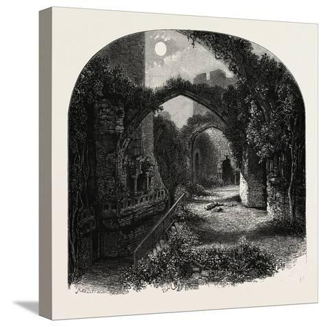 The Banqueting Hall, Conway Castle, North Wales, UK, 19th Century--Stretched Canvas Print