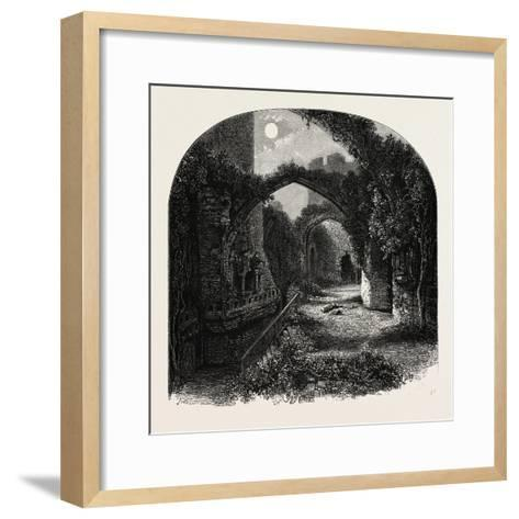 The Banqueting Hall, Conway Castle, North Wales, UK, 19th Century--Framed Art Print