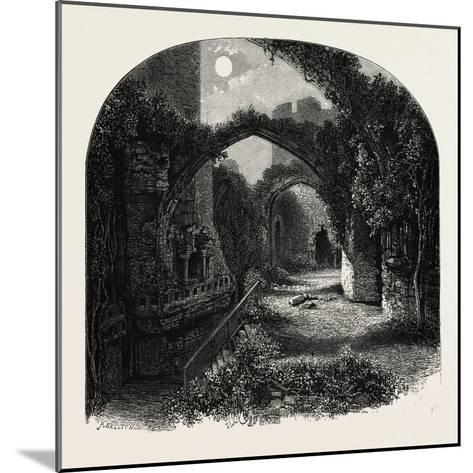 The Banqueting Hall, Conway Castle, North Wales, UK, 19th Century--Mounted Giclee Print