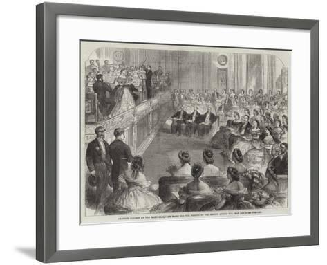 Amateur Concert at the Hanover-Square Rooms for the Benefit of the British Asylum for Deaf and Dumb--Framed Art Print