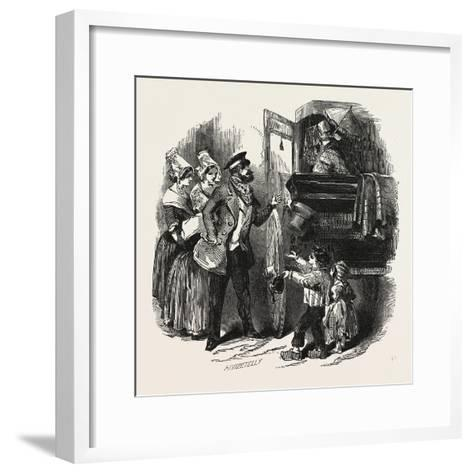 The End of the Season, 1846, Off to Paris: Courier and Travelling Carriage--Framed Art Print