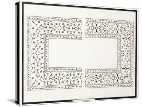 Specimens of the Mosaics, from the Tomb of the Emperor, C. 1815 (Pencil, Pen, Ink, W/C)--Stretched Canvas Print