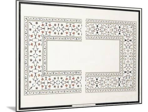 Specimens of the Mosaics, from the Tomb of the Emperor, C. 1815 (Pencil, Pen, Ink, W/C)--Mounted Giclee Print