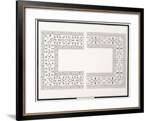 Specimens of the Mosaics, from the Tomb of the Emperor, C. 1815 (Pencil, Pen, Ink, W/C)--Framed Art Print