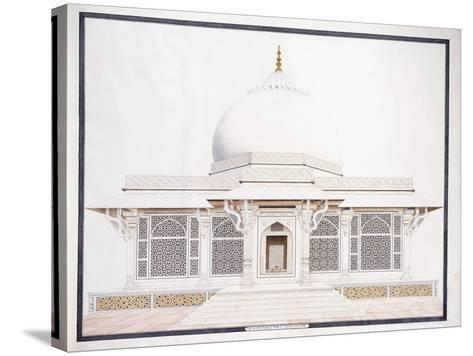 The White Marble Tomb of Seliem Chistie, C. 1815 (Pencil, Pen and Ink, W/C)--Stretched Canvas Print