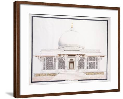 The White Marble Tomb of Seliem Chistie, C. 1815 (Pencil, Pen and Ink, W/C)--Framed Art Print