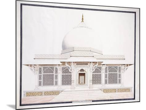 The White Marble Tomb of Seliem Chistie, C. 1815 (Pencil, Pen and Ink, W/C)--Mounted Giclee Print