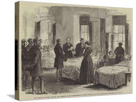 The Prince of Wales Visiting the Persons at St Bartholomew's Hospital Wounded by the Clerkenwell Ex--Stretched Canvas Print