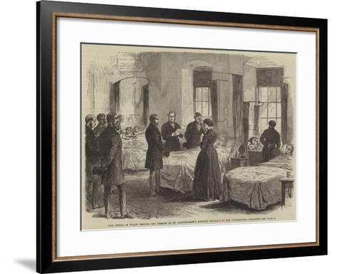 The Prince of Wales Visiting the Persons at St Bartholomew's Hospital Wounded by the Clerkenwell Ex--Framed Art Print