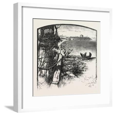 The Upper Ottawa, Timber Boom, Fitzroy Harbour, Canada, Nineteenth Century--Framed Art Print
