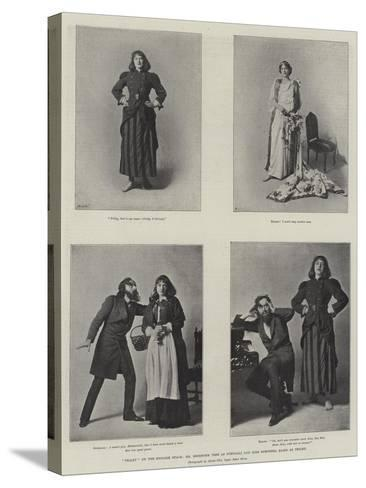 Trilby on the English Stage, Mr Beerbohm Tree as Svengali and Miss Dorothea Baird as Trilby--Stretched Canvas Print