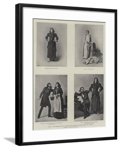 Trilby on the English Stage, Mr Beerbohm Tree as Svengali and Miss Dorothea Baird as Trilby--Framed Art Print