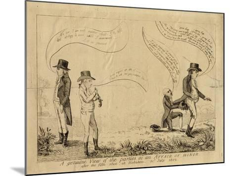 A Genuine View of the Parties in an Affair of Honor after the Fifth Shot at Hoboken, July 31, 1802--Mounted Giclee Print